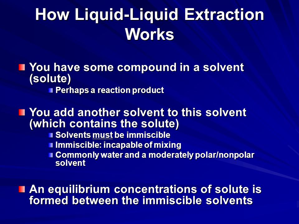 How Liquid-Liquid Extraction Works