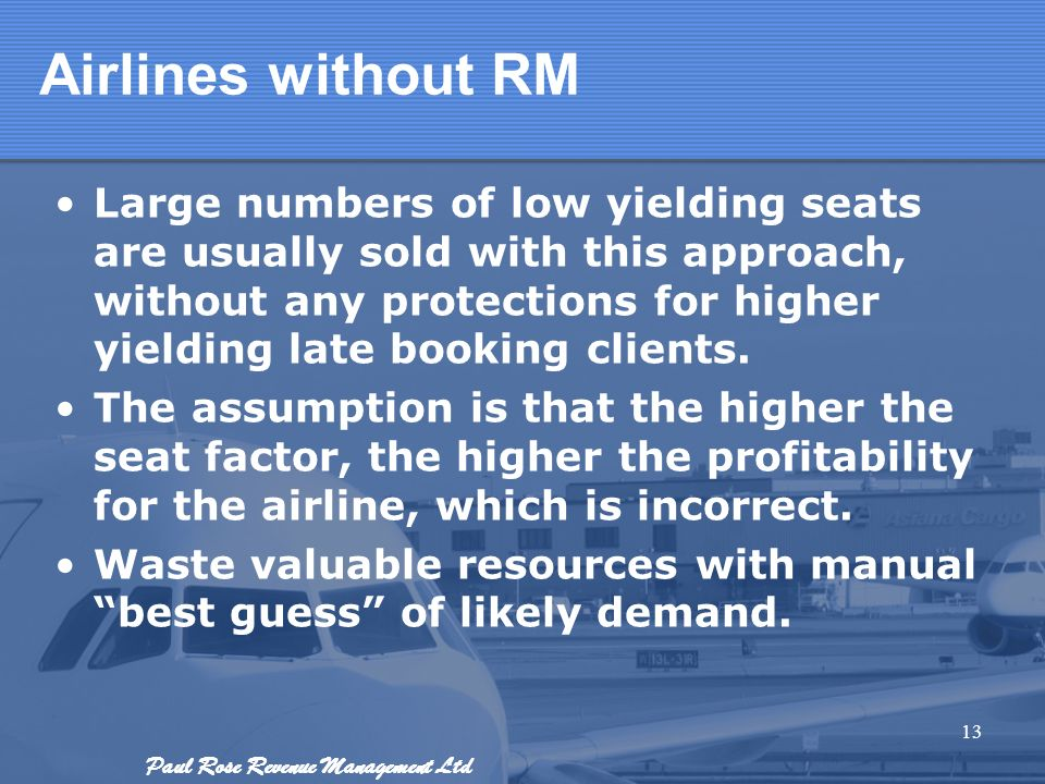 Airlines without RM