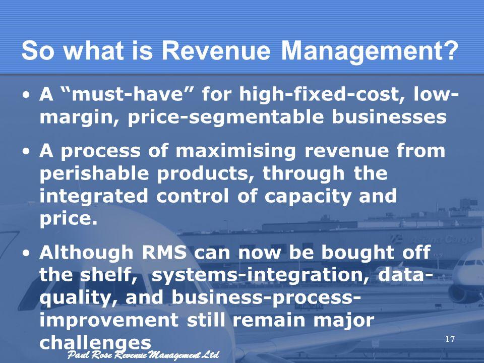 So what is Revenue Management