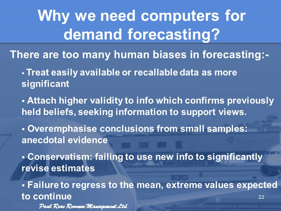 Why we need computers for demand forecasting