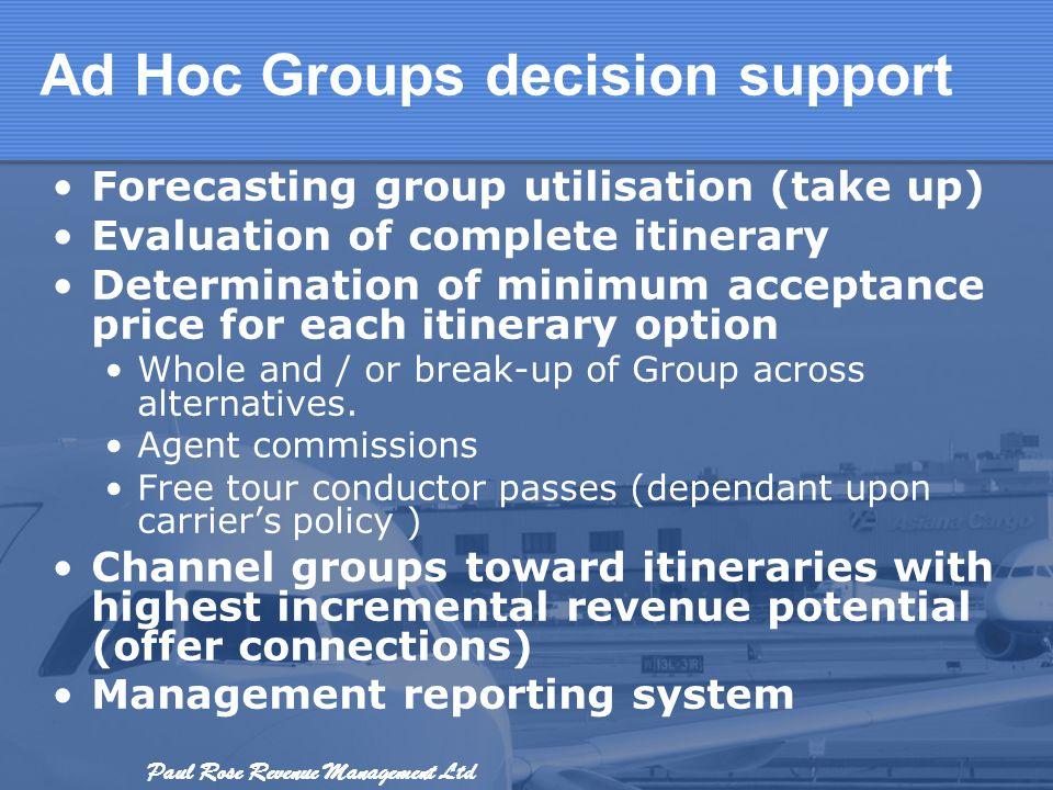Ad Hoc Groups decision support