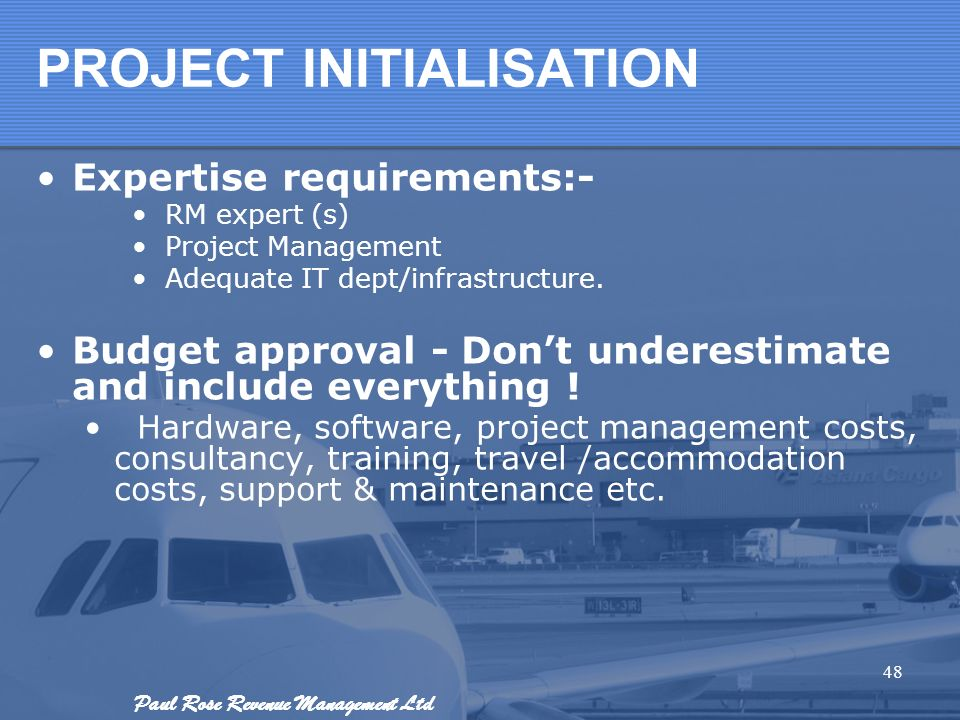PROJECT INITIALISATION