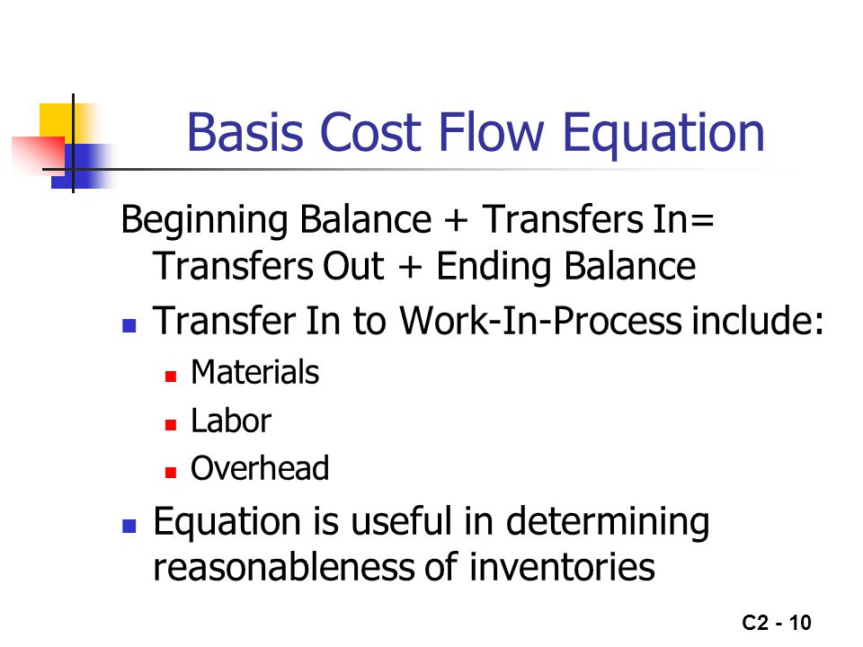 Basis Cost Flow Equation