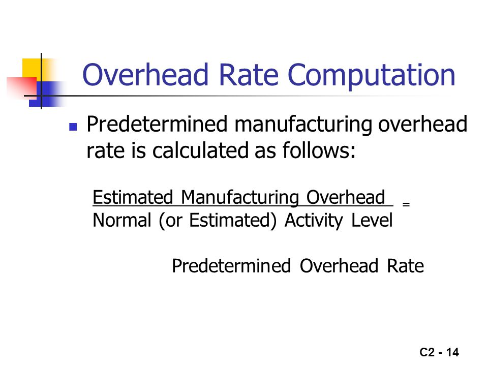 Overhead Rate Computation