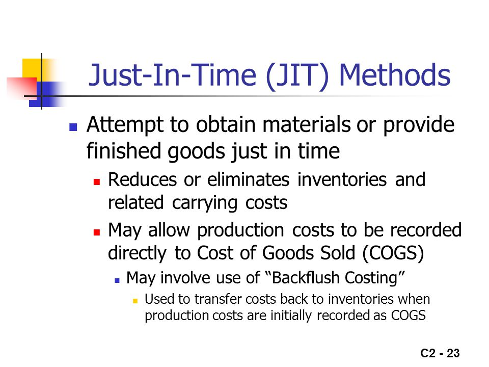 Just-In-Time (JIT) Methods