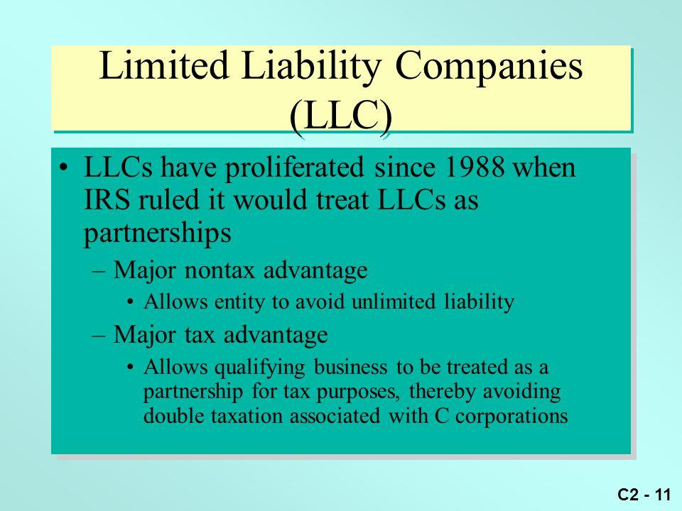 Limited Liability Companies (LLC)