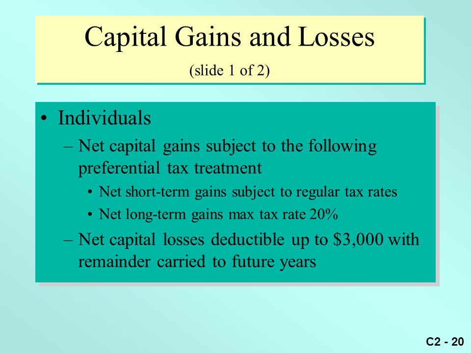 Capital Gains and Losses (slide 1 of 2)