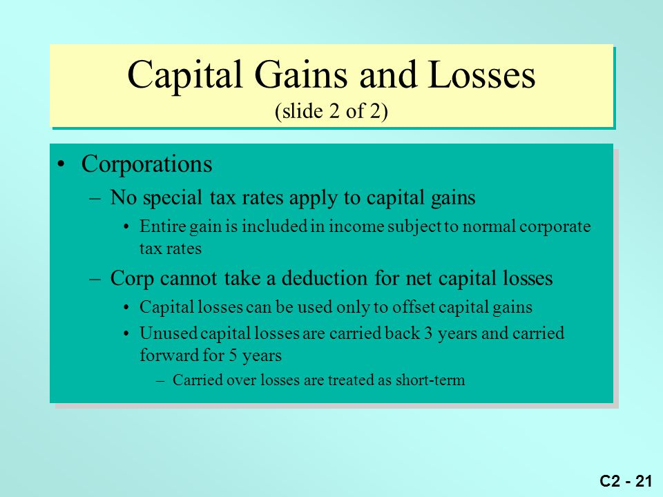 Capital Gains and Losses (slide 2 of 2)