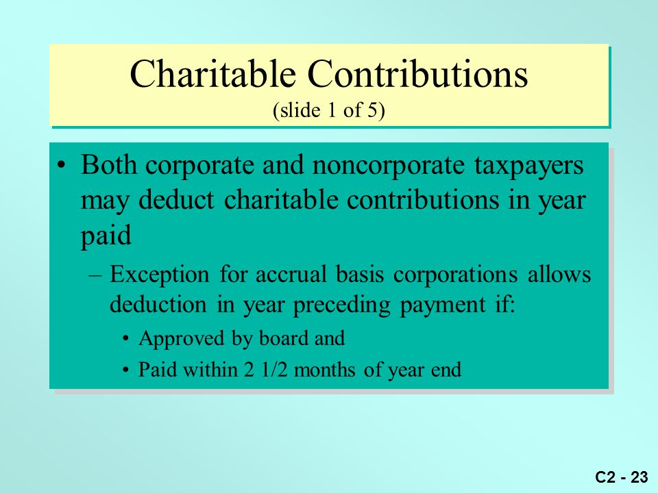 Charitable Contributions (slide 1 of 5)
