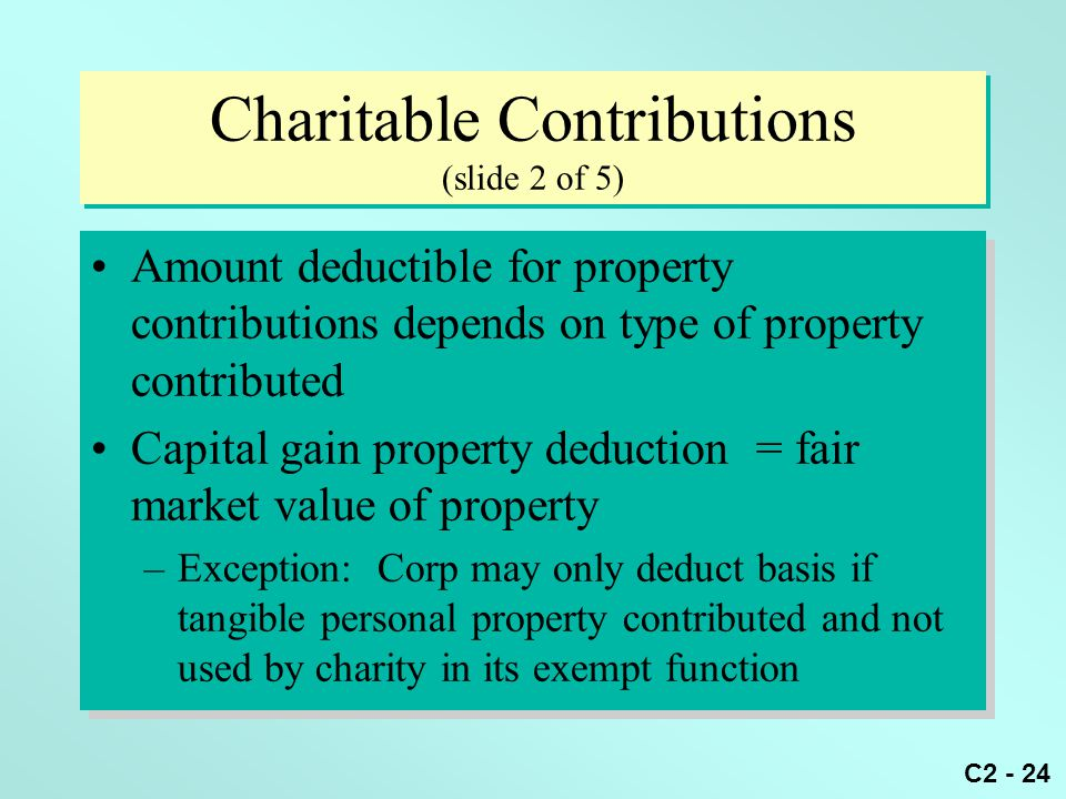 Charitable Contributions (slide 2 of 5)