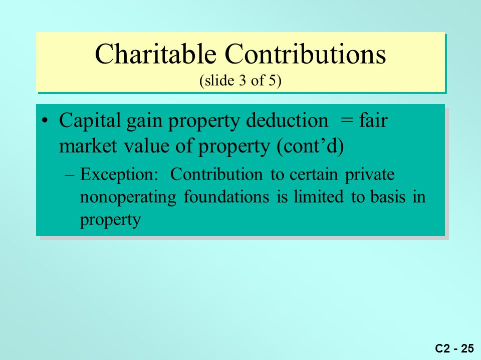 Charitable Contributions (slide 3 of 5)