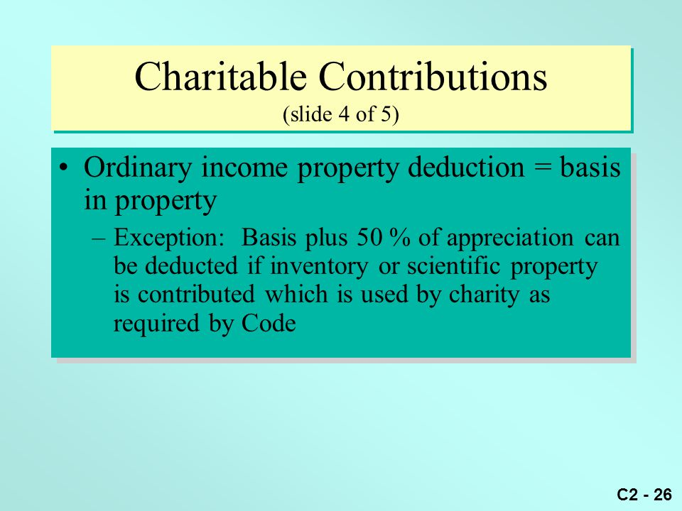 Charitable Contributions (slide 4 of 5)
