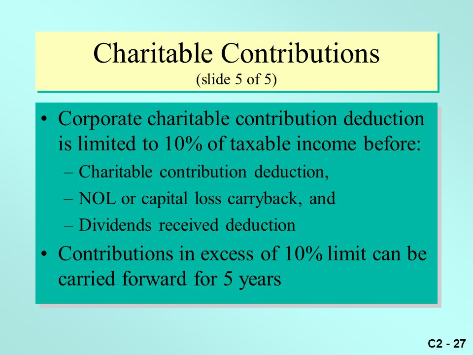 Charitable Contributions (slide 5 of 5)