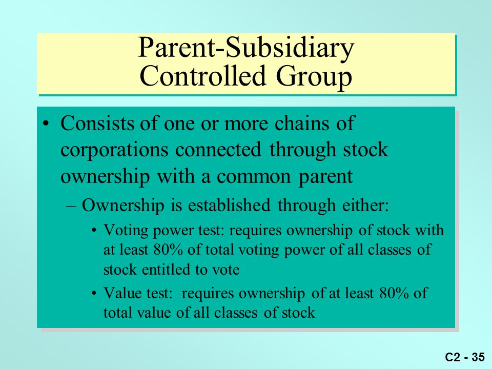 Parent-Subsidiary Controlled Group