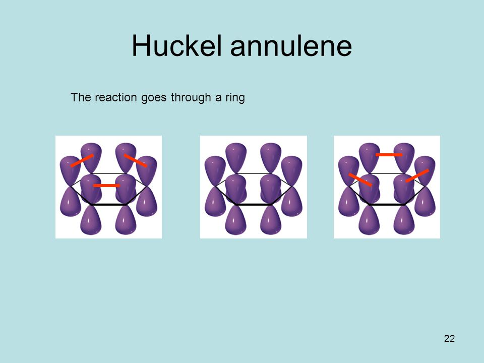 Huckel annulene The reaction goes through a ring