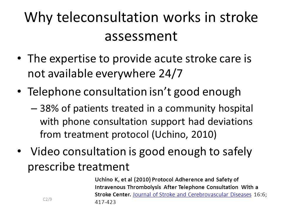 Why teleconsultation works in stroke assessment