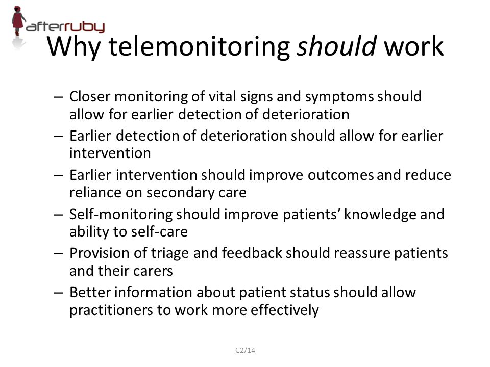 Why telemonitoring should work