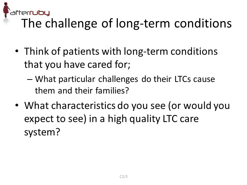 The challenge of long-term conditions