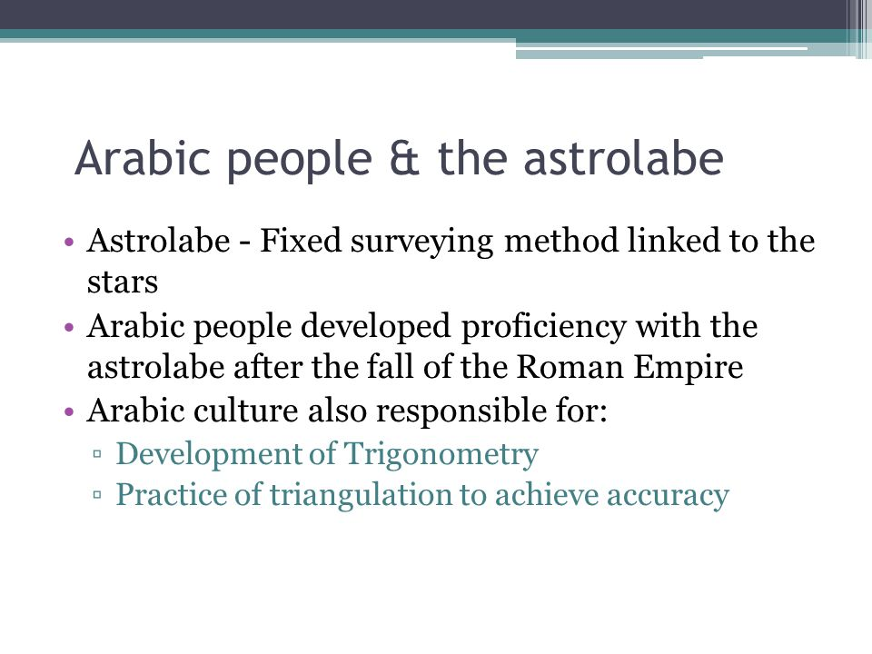 Arabic people & the astrolabe