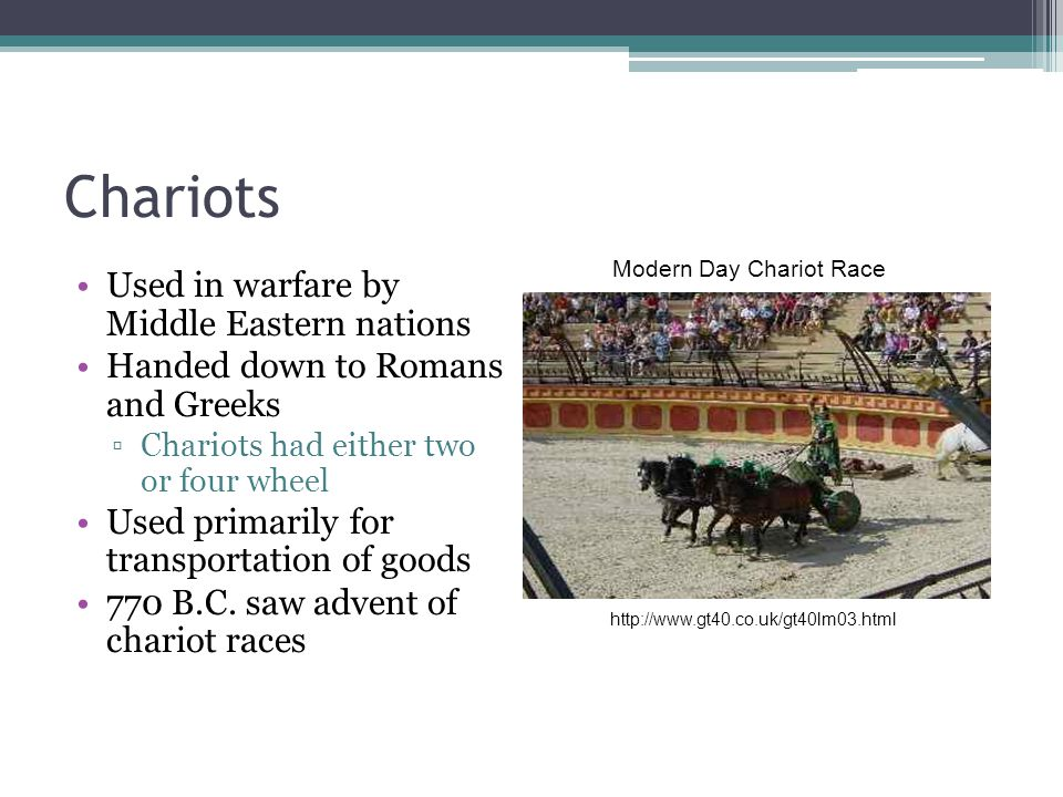 Modern Day Chariot Race