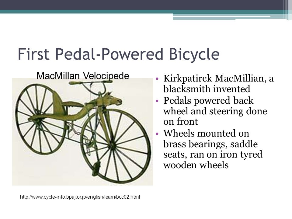 First Pedal-Powered Bicycle