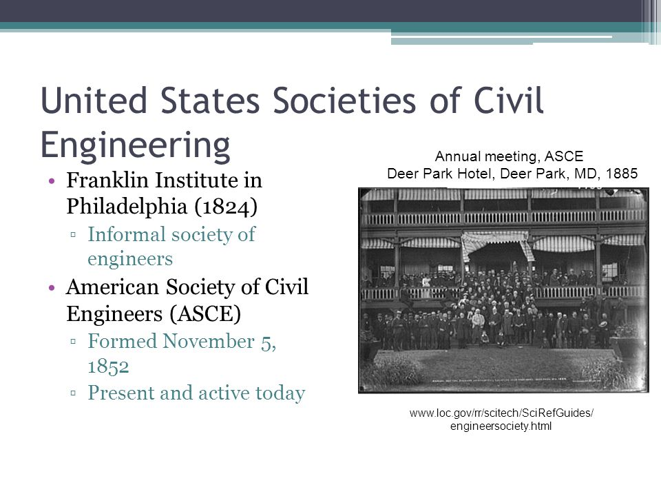 United States Societies of Civil Engineering