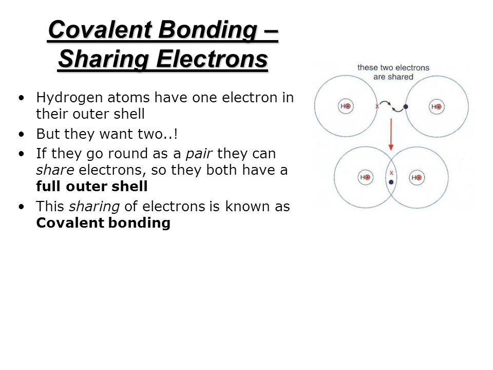 Covalent Bonding – Sharing Electrons