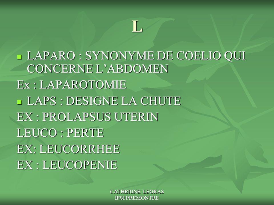 CATHERINE LEGRAS IFSI PREMONTRE