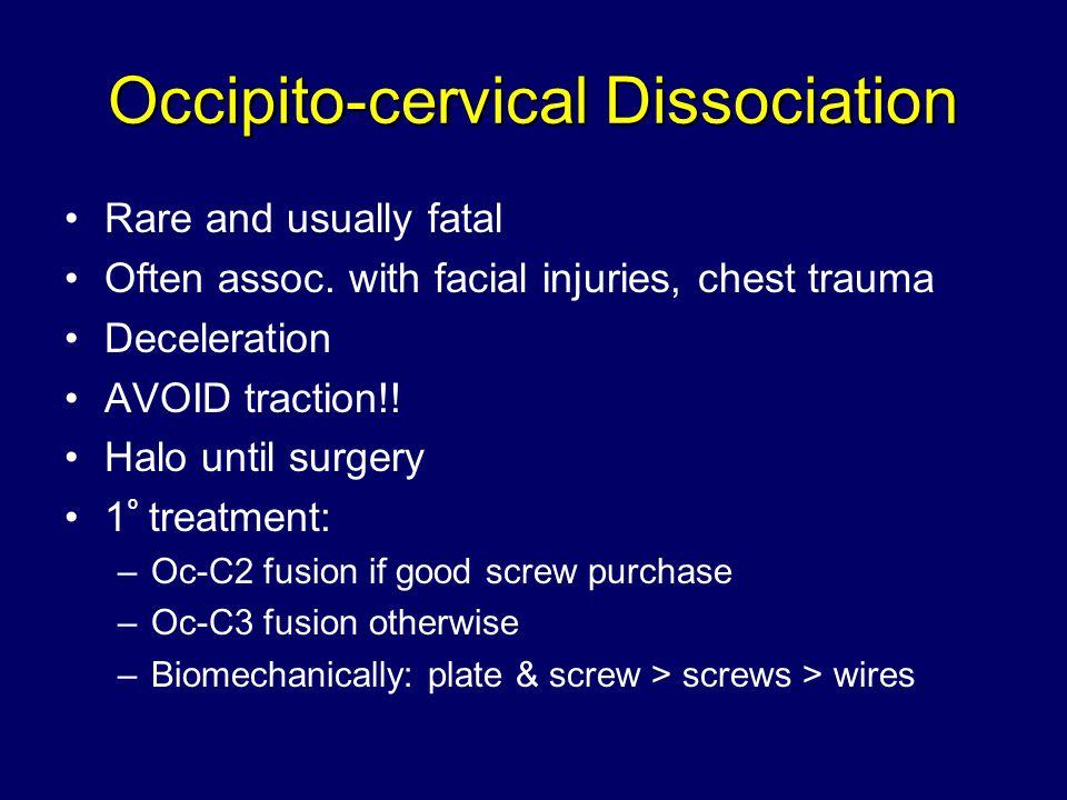 Occipito-cervical Dissociation