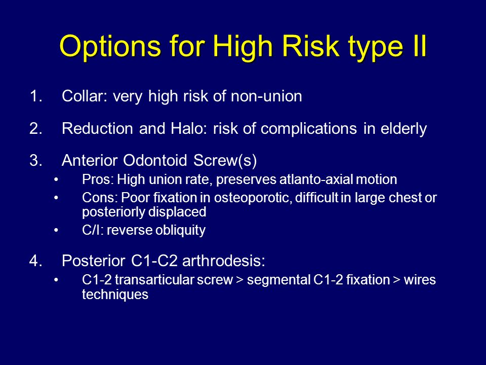 Options for High Risk type II