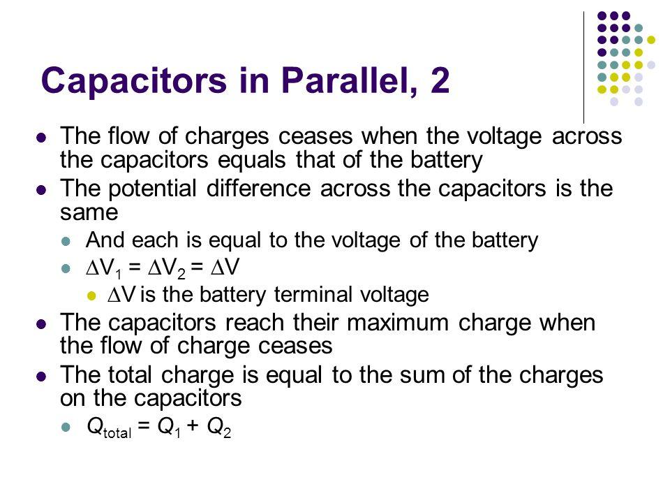 Capacitors in Parallel, 2