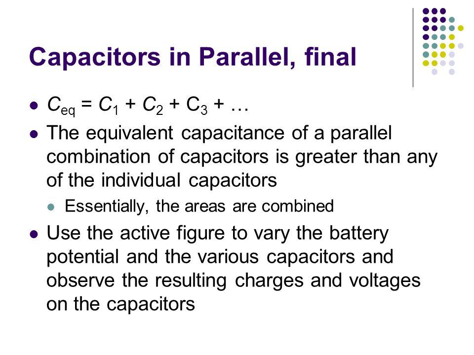 Capacitors in Parallel, final