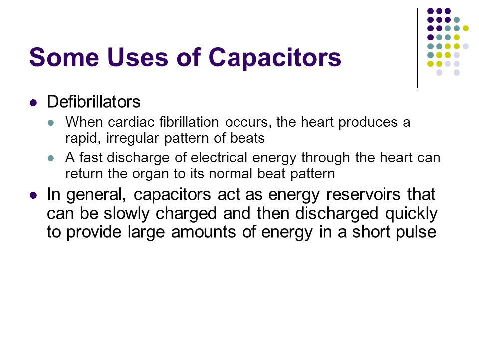Some Uses of Capacitors