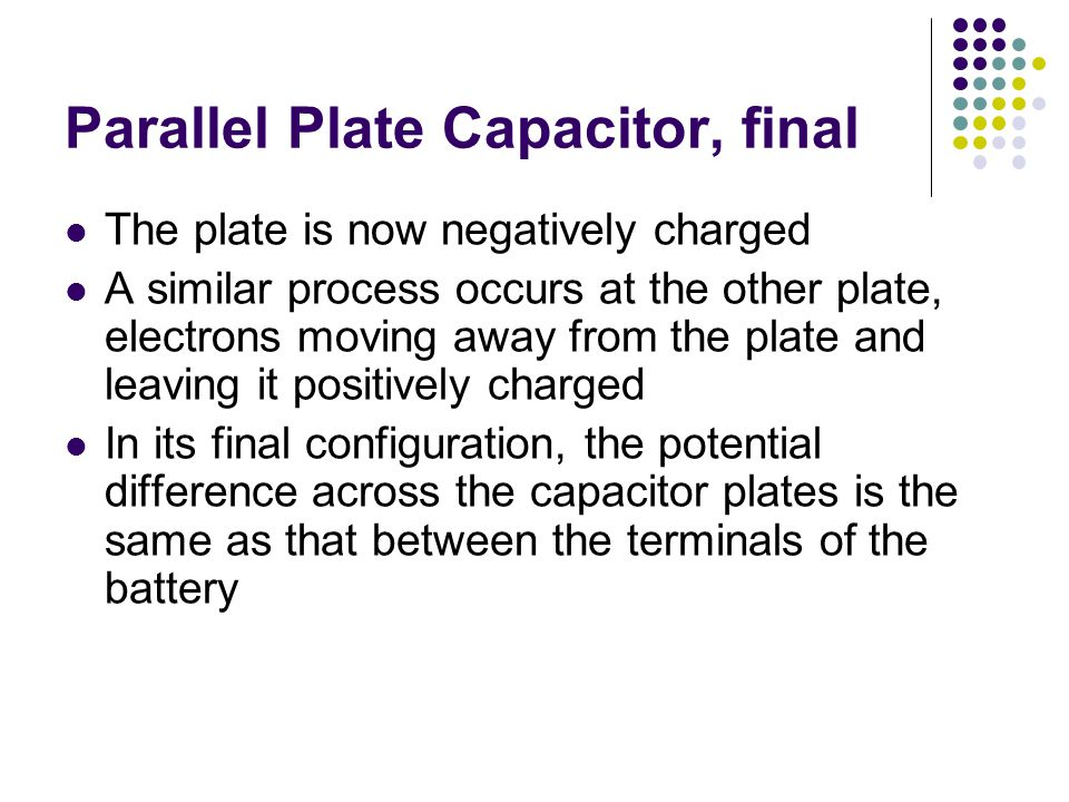 Parallel Plate Capacitor, final