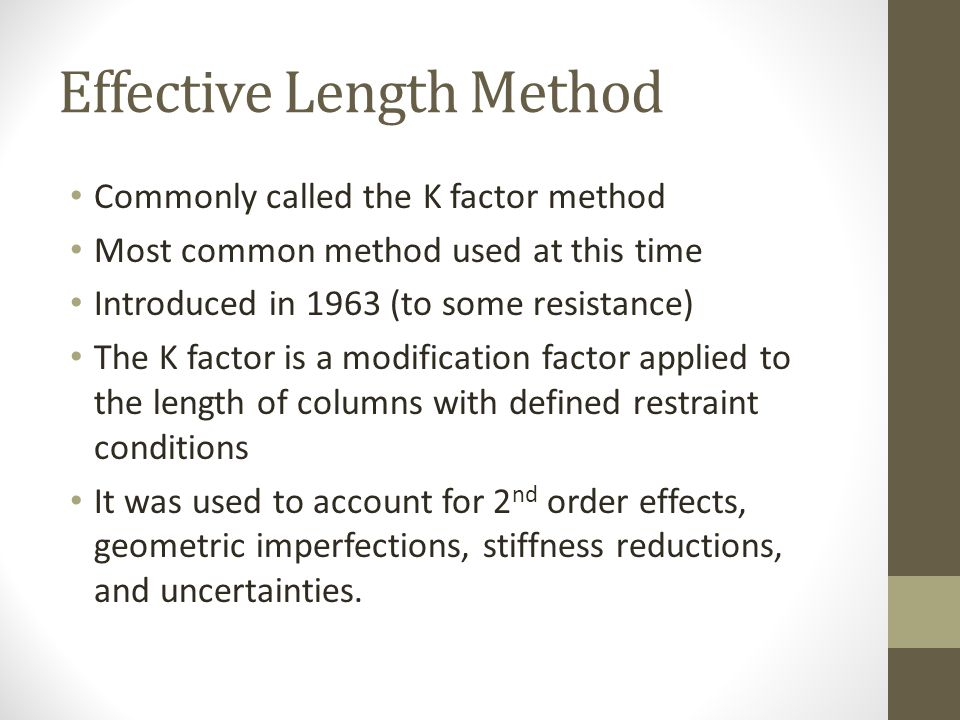 Effective Length Method