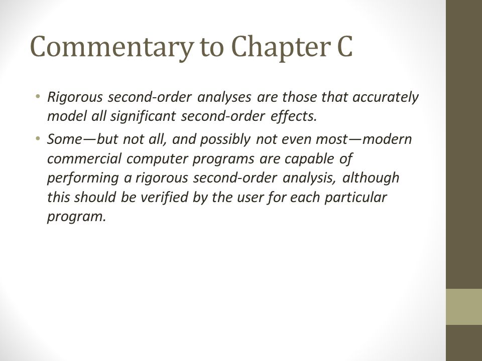 Commentary to Chapter C