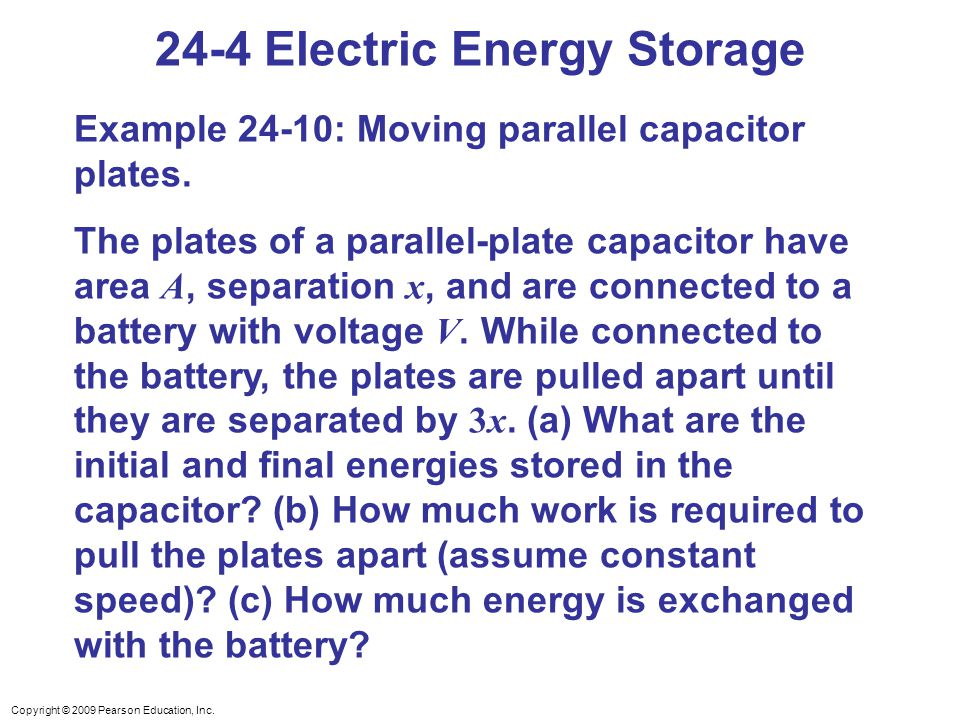 24-4 Electric Energy Storage