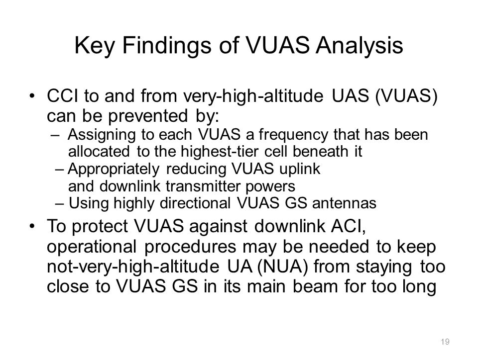 Key Findings of VUAS Analysis