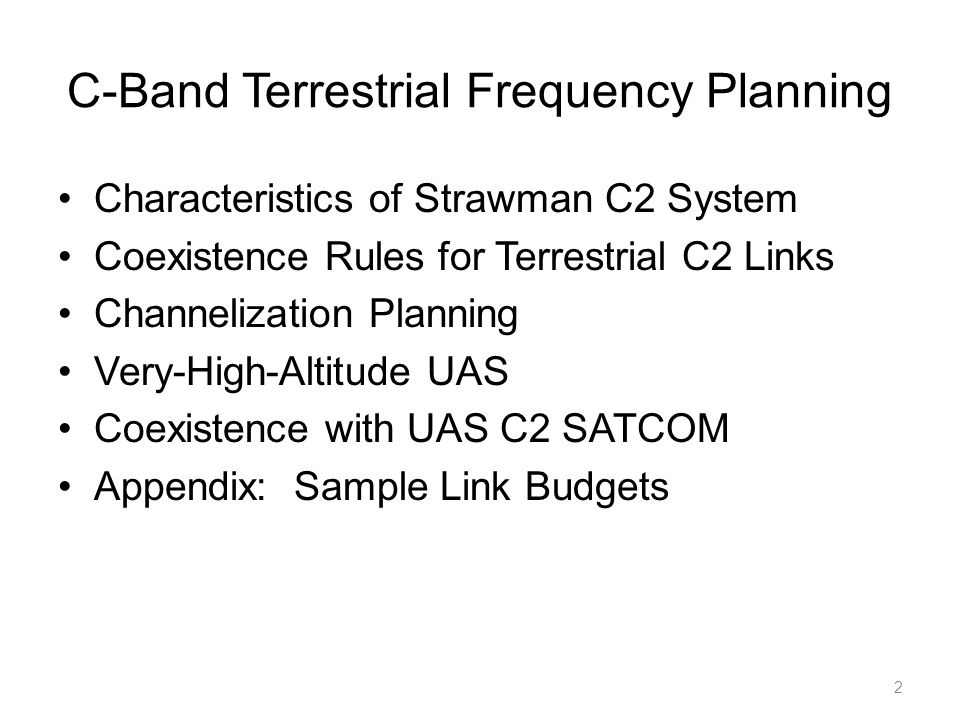 C-Band Terrestrial Frequency Planning