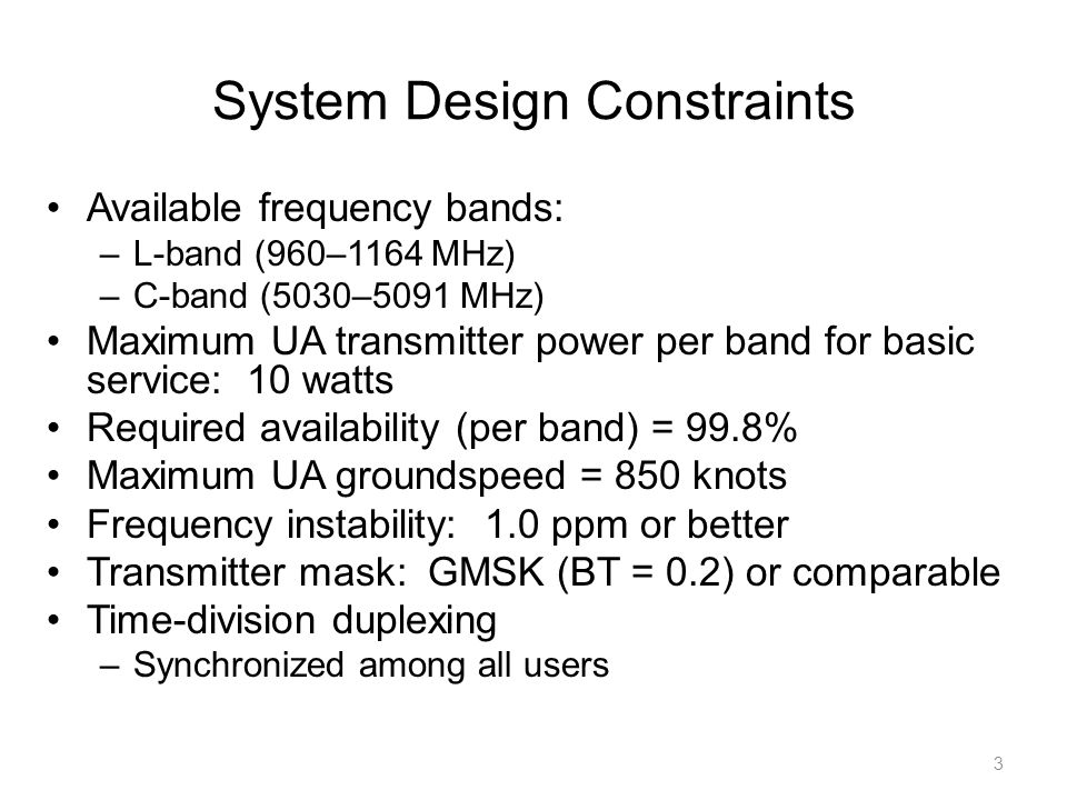 System Design Constraints