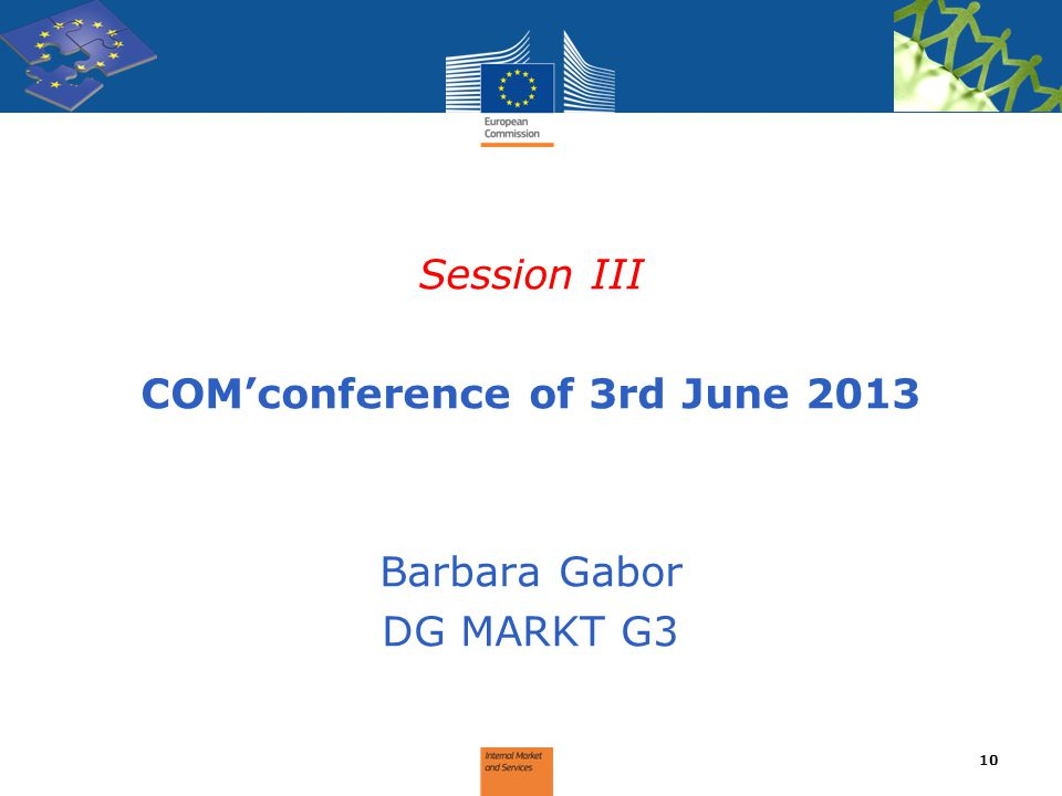 COM'conference of 3rd June 2013