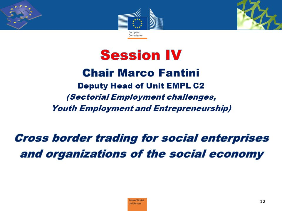 Session IV Chair Marco Fantini