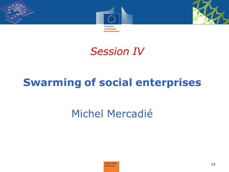 Swarming of social enterprises