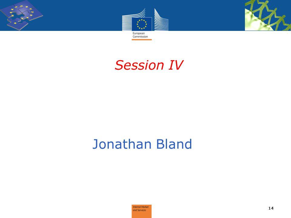 Session IV Jonathan Bland