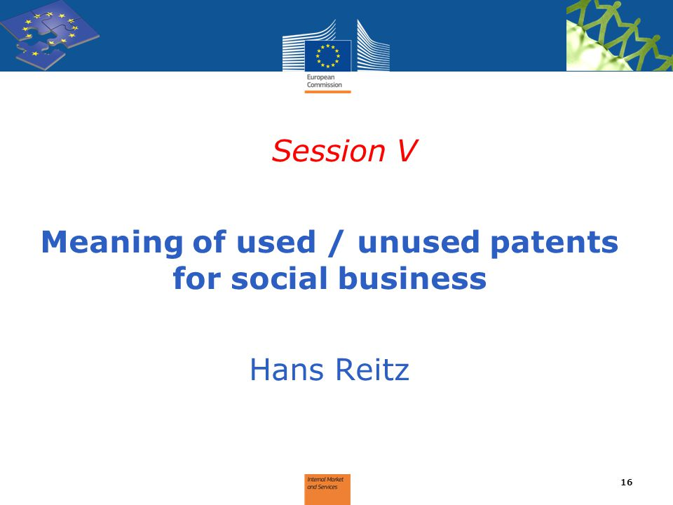Meaning of used / unused patents for social business