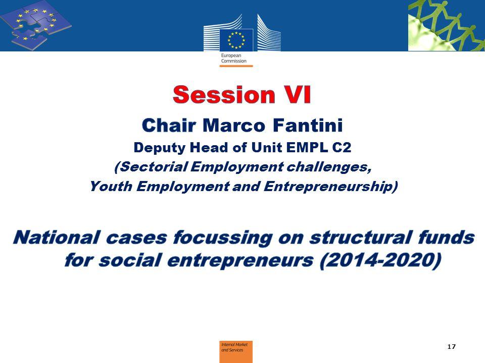 Session VI Chair Marco Fantini