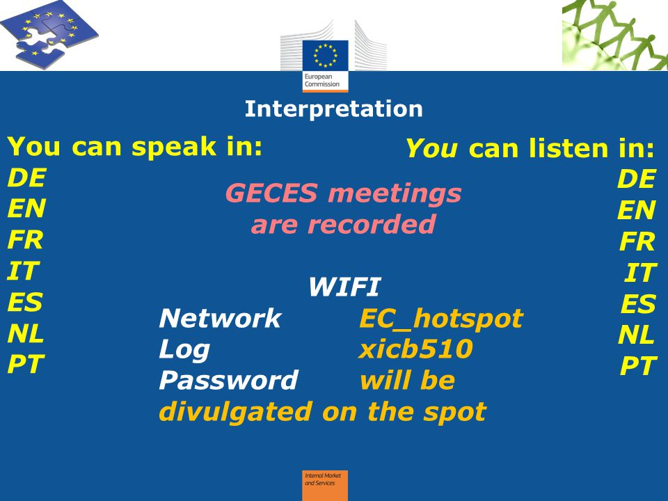 GECES meetings are recorded WIFI