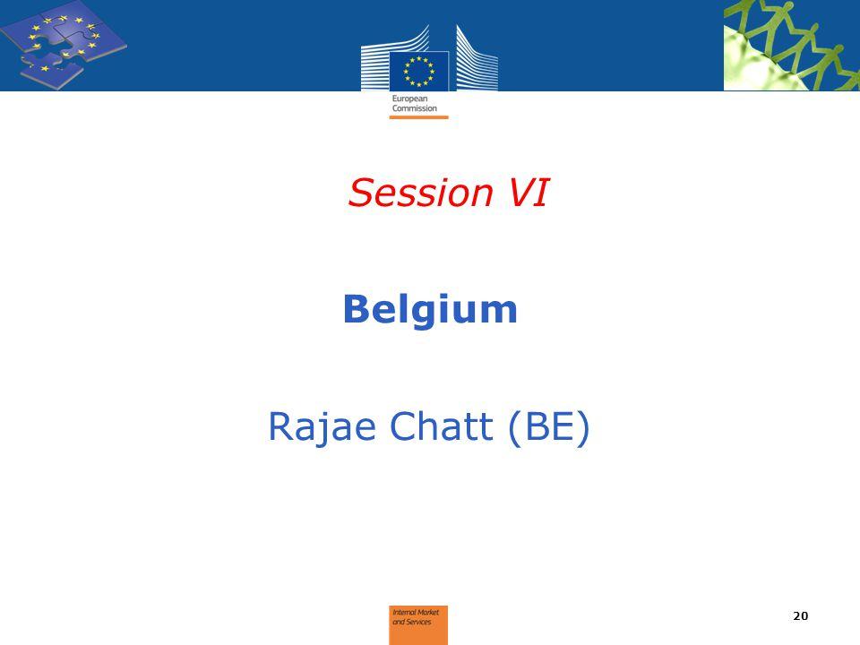 Session VI Belgium Rajae Chatt (BE)