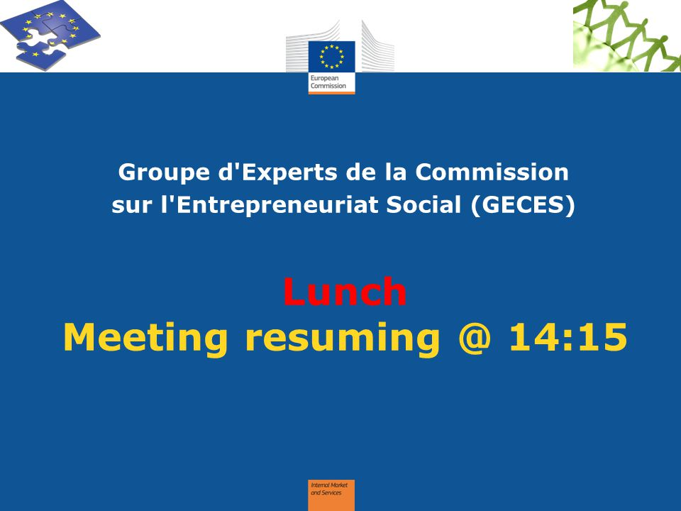Lunch Meeting resuming @ 14:15