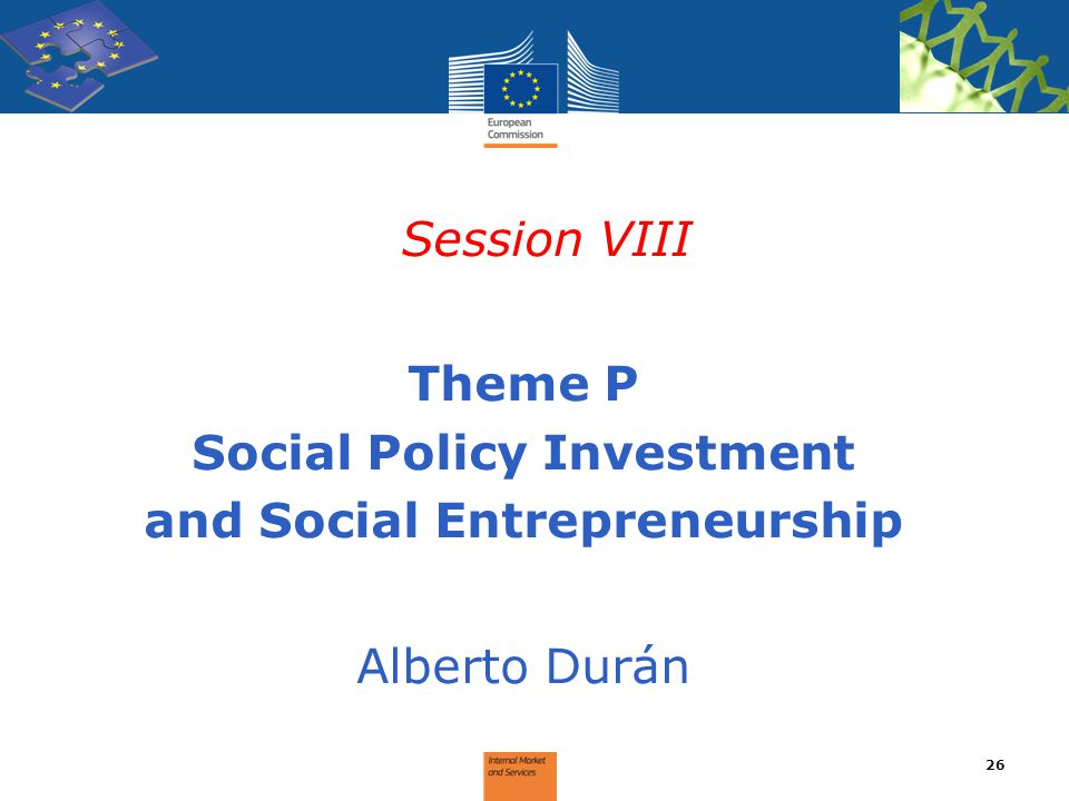 Social Policy Investment and Social Entrepreneurship